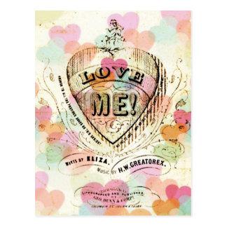 Aimez-moi carte postale de Valentine de coeurs de
