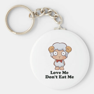 Aimez-moi ne me mangent pas conception de moutons porte-clé rond