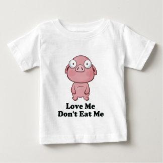 Aimez-moi ne me mangent pas conception de porc t-shirt pour bébé
