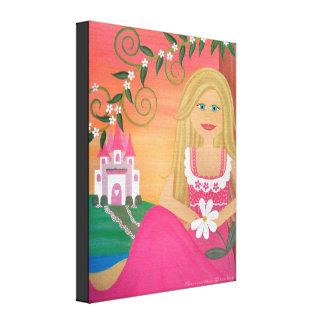 Aimez-moi Nots - 16x20 la princesse Castle Girl Impression Sur Toile