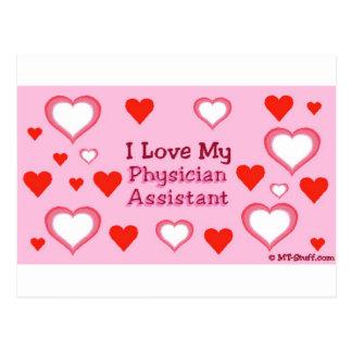 Aimez mon assistant de médecin cartes postales