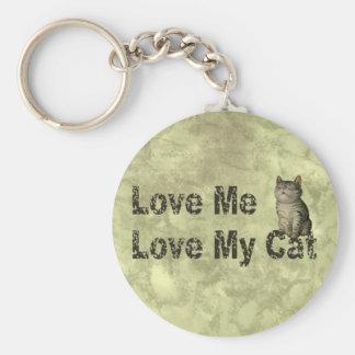 Aimez mon chat porte-clé rond