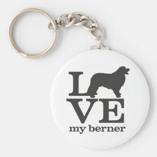 Aimez mon chien de montagne de Bernese Porte-clé Rond