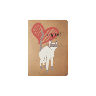 Aimez mon illustration de chat sur le papier protège-passeport