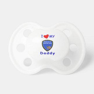 Aimez mon papa de police tétines pour bébé