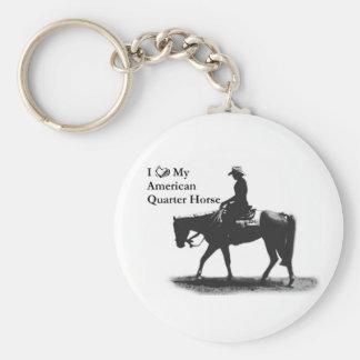 Aimez mon porte - clé quart américain de cheval porte-clé rond