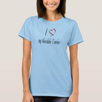 aimez mon T-shirt de terrier d'airedale