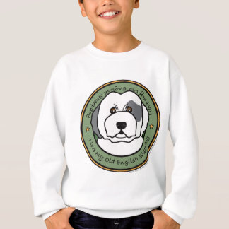 Aimez mon vieux chien de berger anglais sweatshirt