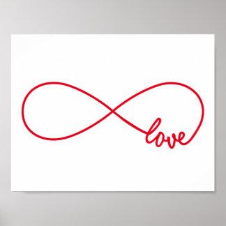 Aimez pour toujours, signe rouge d'infini, amour posters
