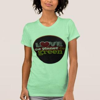 Aimez T-shirt de dames de devenez écolo de planète