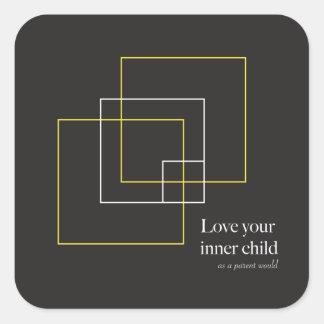 Aimez vos autocollants intérieurs de carré