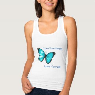 Aimez votre santé, papillon de l'amour vous-même débardeur