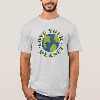 Aimez votre T-shirt de la terre de planète