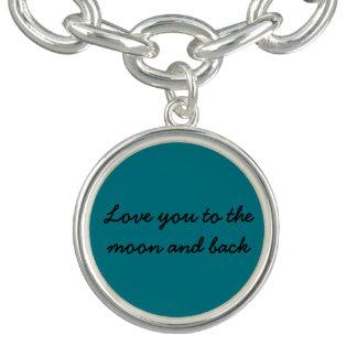 Aimez-vous à la lune et au charme arrière bracelets