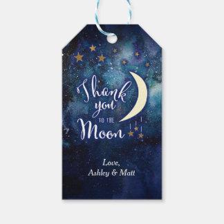 Aimez-vous à la lune et aux étiquettes arrières de