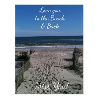 Aimez-vous à la plage et à la carte postale