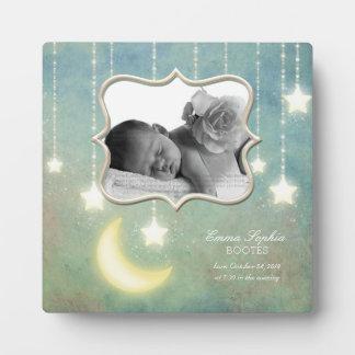 Aimez-vous au bébé d'étoiles de scintillement de plaque photo