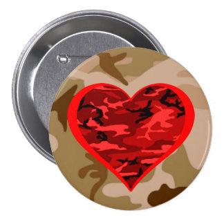Aimez-vous bouton militaire de Valentine de coeur Badge