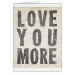 Aimez-vous davantage (le blanc antique) cartes de vœux