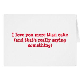 Aimez-vous davantage que durcissent carte de vœux