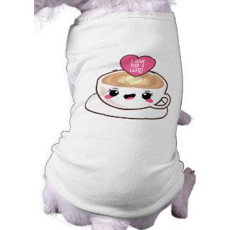 Aimez-vous un Latte EMoji T-shirt Pour Chien