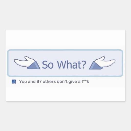 Ainsi ce qui ? (Bouton de Facebook) Stickers En Rectangle