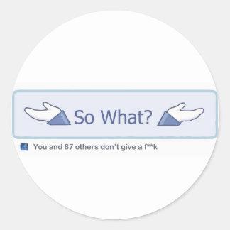 Ainsi ce qui ? (Bouton de Facebook) Sticker Rond