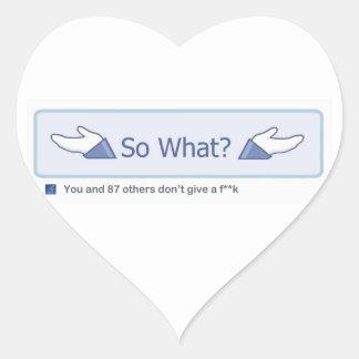 Ainsi ce qui ? (Bouton de Facebook) Sticker Cœur