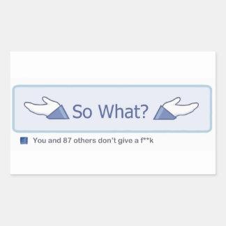 Ainsi ce qui ? (Bouton de Facebook) Sticker Rectangulaire