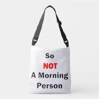 Ainsi pas un noir de personne de matin sac