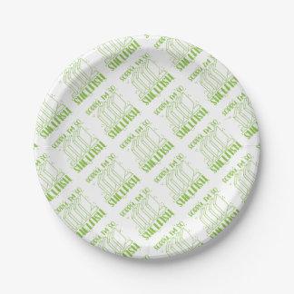 ainsi shelfish im désolés (calembour de livre assiettes en papier