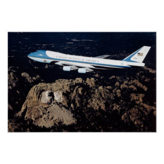 Air Force One le mont Rushmore Posters