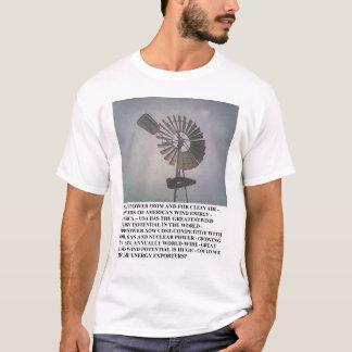 Air frais de pays - T-shirt 1 d'énergie éolienne