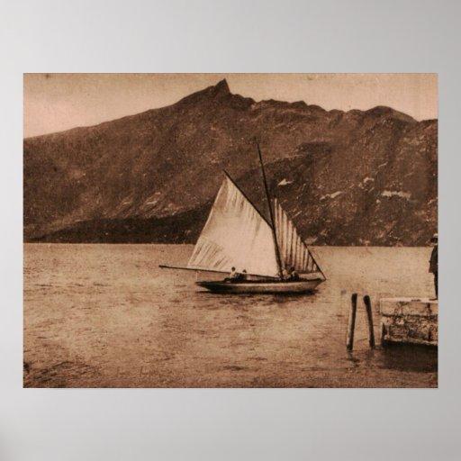 AIX-LES-BAINS - lac Bourget - bateau à voile Posters