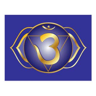 Ajna ou carte postale de chakra de troisième oeil