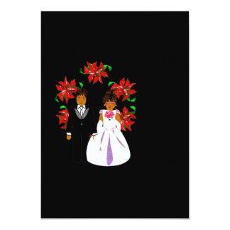 Ajouter de mariage de Noël à la guirlande dans le Carton D'invitation 12,7 Cm X 17,78 Cm