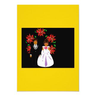 Ajouter de mariage de Noël à la guirlande en or Carton D'invitation 12,7 Cm X 17,78 Cm