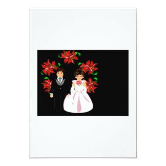 Ajouter de mariage de Noël au noir blanc de Carton D'invitation 12,7 Cm X 17,78 Cm