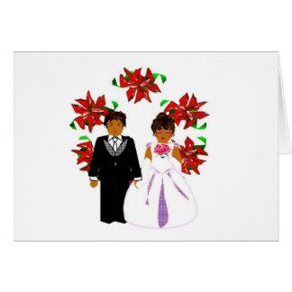 Ajouter II de mariage de Noël à la guirlande Carte De Correspondance