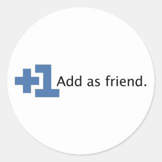 Ajoutez comme ami - plus un sticker rond