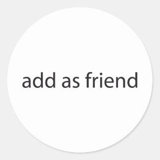 ajoutez comme ami sticker rond