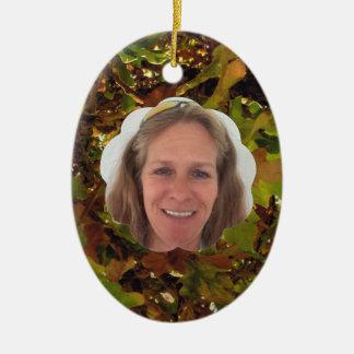 Ajoutez le nuage d'automne de photo ornement ovale en céramique