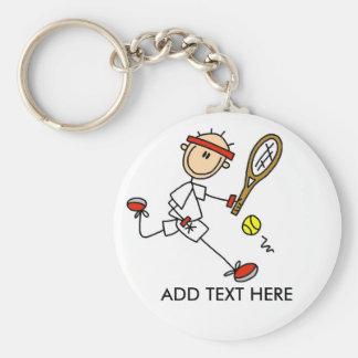 Ajoutez le porte - clé personnalisable de tennis porte-clé rond