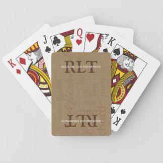 ajoutez les initiales et le nom pour obtenir le cartes à jouer