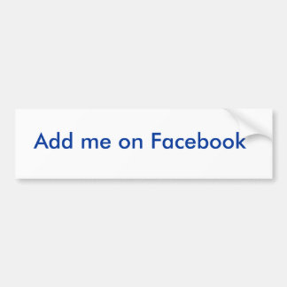Ajoutez-moi sur Facebook Adhésifs Pour Voiture