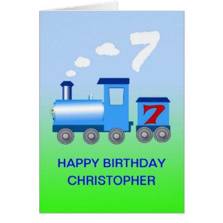 Ajoutez un nom à une 7ème carte d'anniversaire