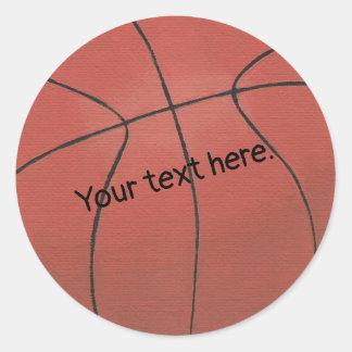 Ajoutez vos autocollants de basket-ball des textes