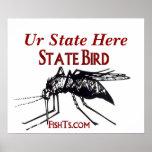 Ajoutez votre affiche d'oiseau d'État-State par Fi