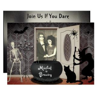 Ajoutez votre invitation de Halloween hantée par