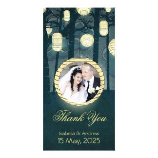 Ajoutez votre Merci de mariage de forêt de rêve de Photocarte Customisée